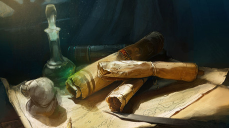 r169_457x256_9554_Magic_Scrolls_2d_fantasy_still_life_illustration_magic_picture_image_digital_art.jpg