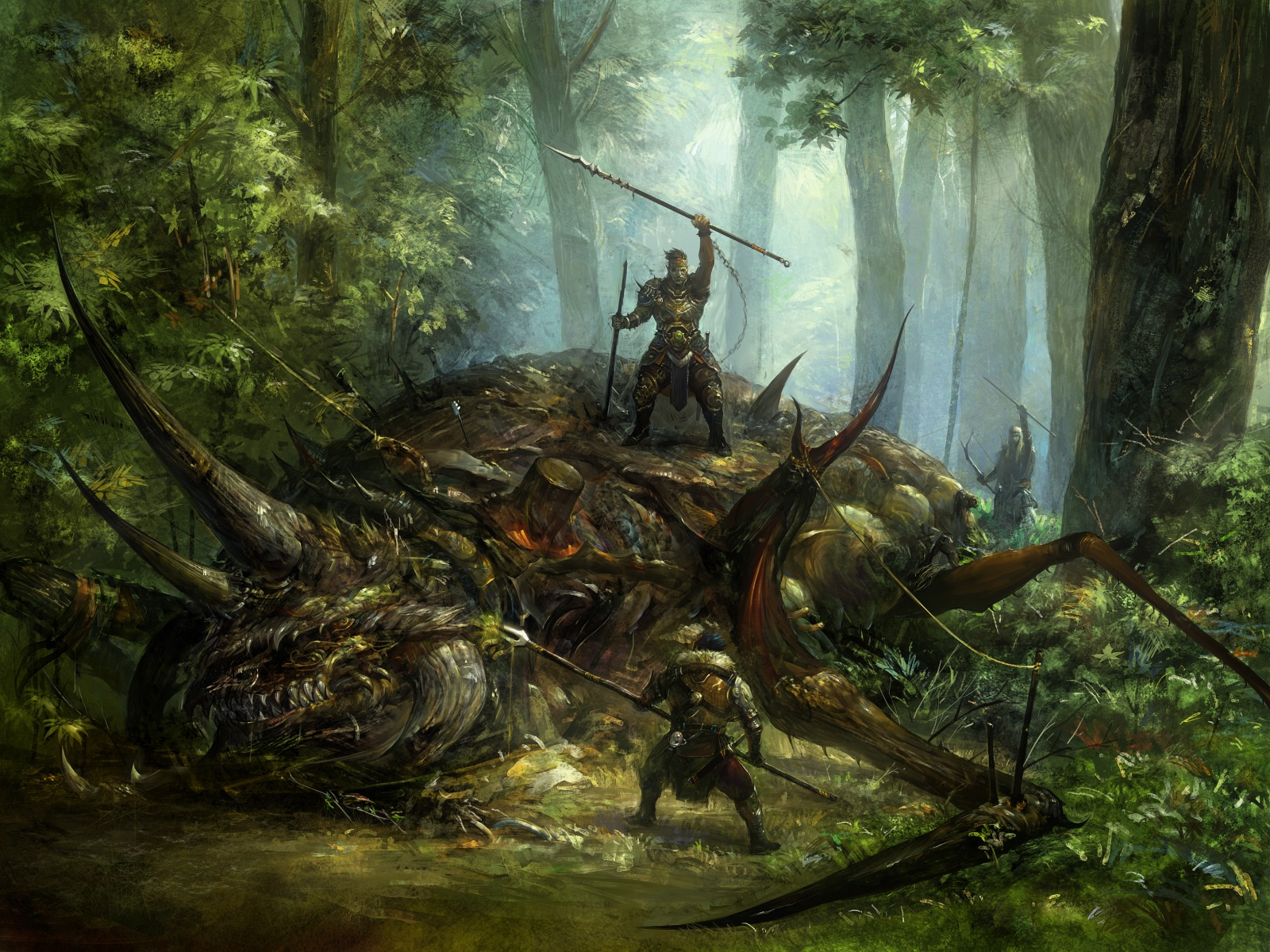 1600x1200_14661___2d_illustration_fantasy_hunters_monster_dinosaur_picture_image_digital_art.jpg