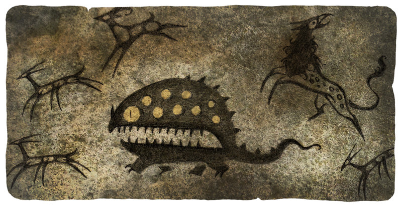 Antediluvian_and_History_-_Cave_Painting_Monster.jpg