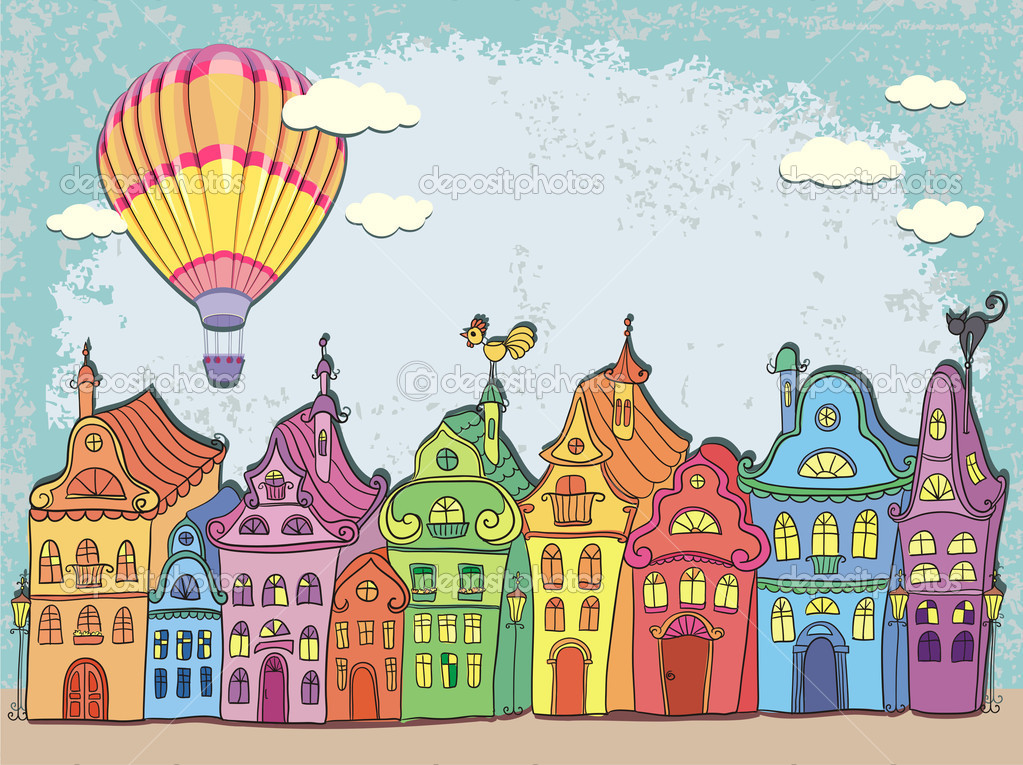 depositphotos_50137557-Vintage-card-with-urban-landscape.-Old-town-with-colored-retro-houses-and-hot-air-balloon-over-the-city.-Cartoon-vector-hand-drawn..jpg