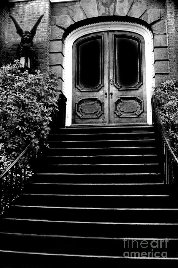 surreal-gothic-black-white-charleston-door-with-gargoyle-kathy-fornal.jpg