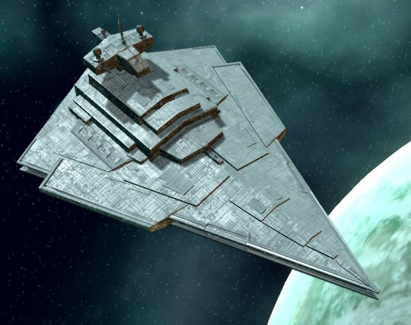 Star Destroyer DIRE decending on Vandor 3