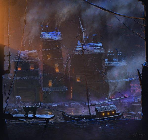 600x570_8656_Dock_2d_landscape_fantasy_boat_dock_cat_architecture_picture_image_digital_art.jpg