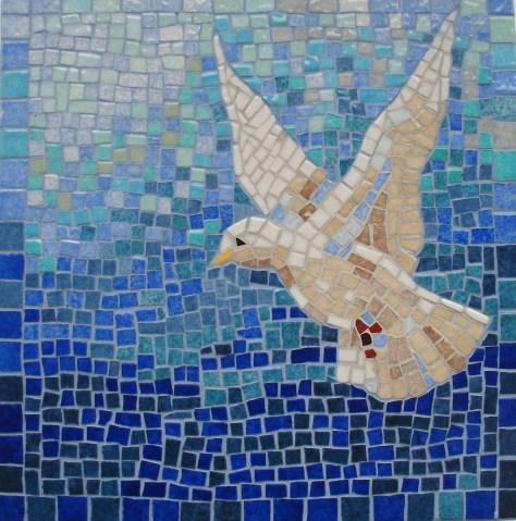 Mozaika z gołębiem