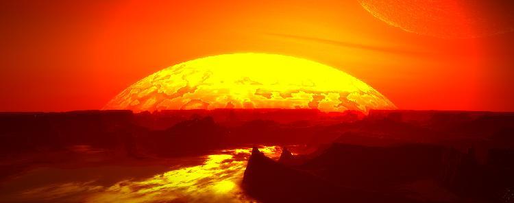 Dark sun dawn