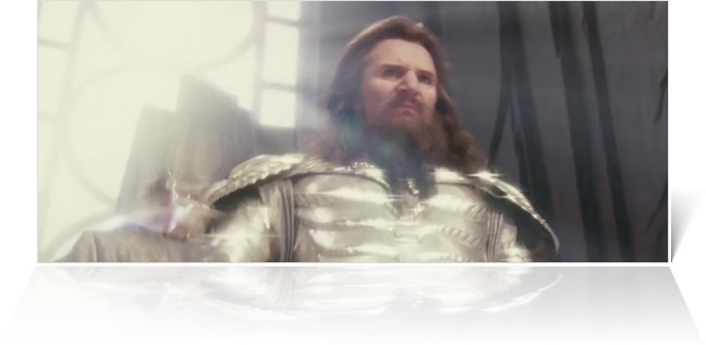 Liam neeson as zeus in clash of the titans