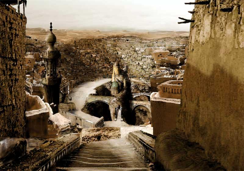 Desert fantasy city by inkarnus
