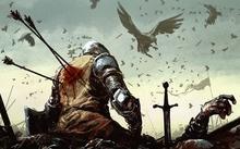 Death battle knights fantasy art warband medieval arrows ravens lost imperia online 1920x1080 wal www.wallpaperhi.com 49