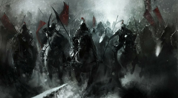 War black army flags fantasy art horses artwork mongols 1920x1061 wallpaper wallpaperswa.com 25