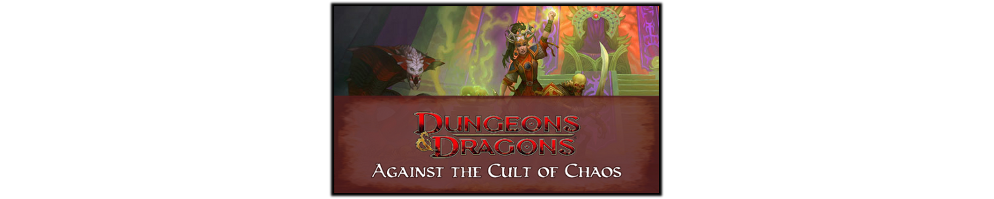 Banner   against the cult of chaos