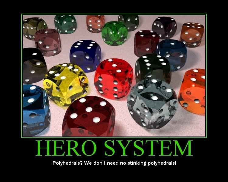 Hero system dice