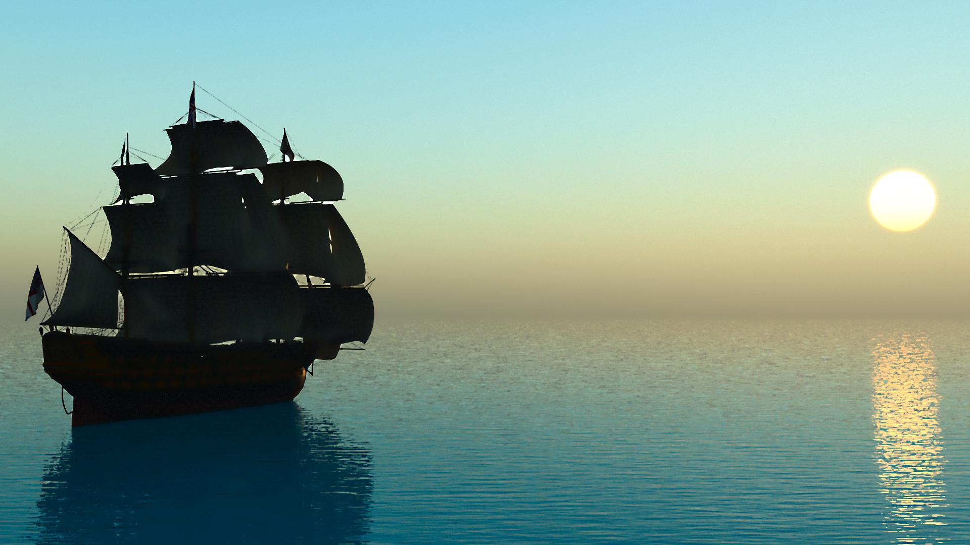 корабли на закате  № 3504015 загрузить