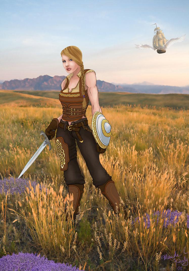 Celtic warrior art