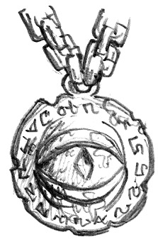 Necklace bearing symbol of Gruumsh