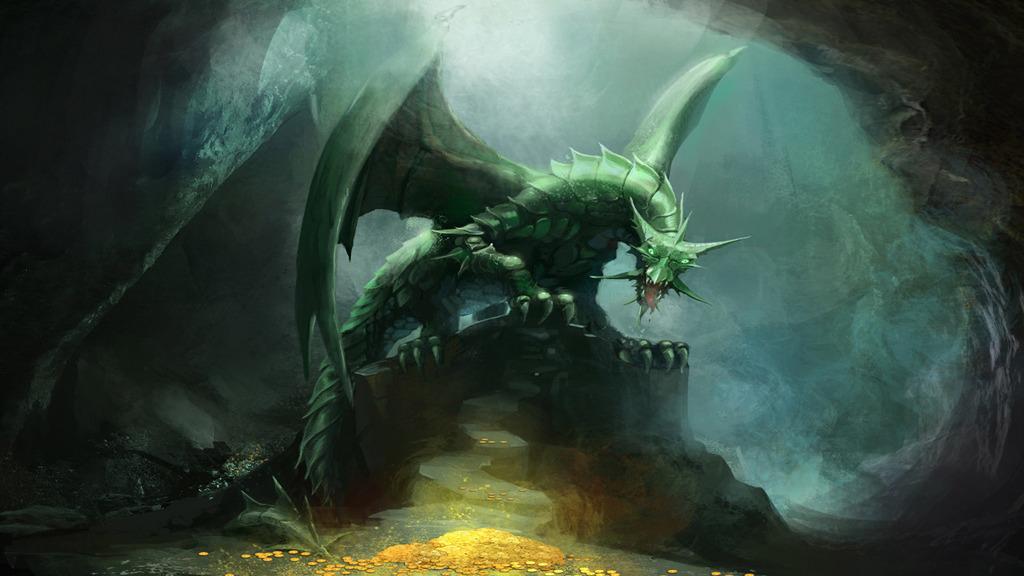 Lighting dragon wallpaper