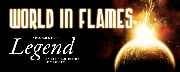 World in flames banner