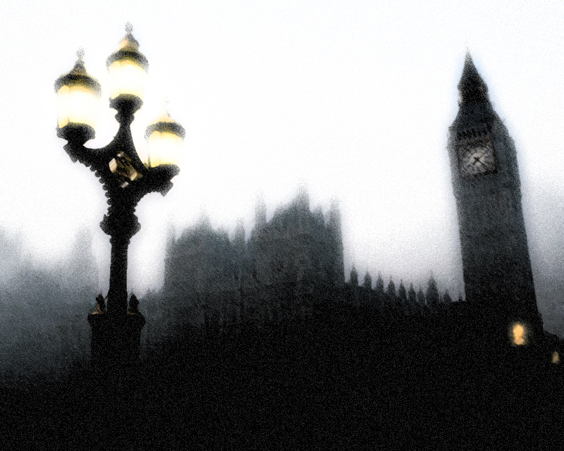 London fog mist edit