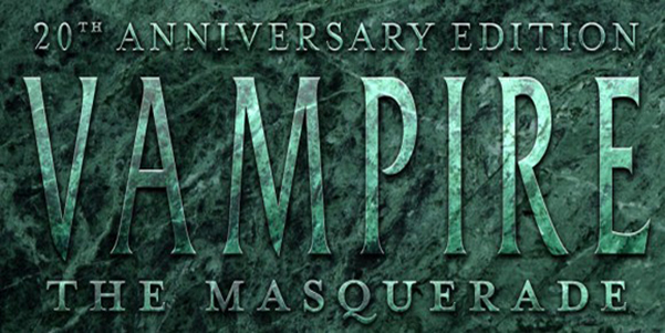 Vampire the masquerade 20th anniversary ed logo wide