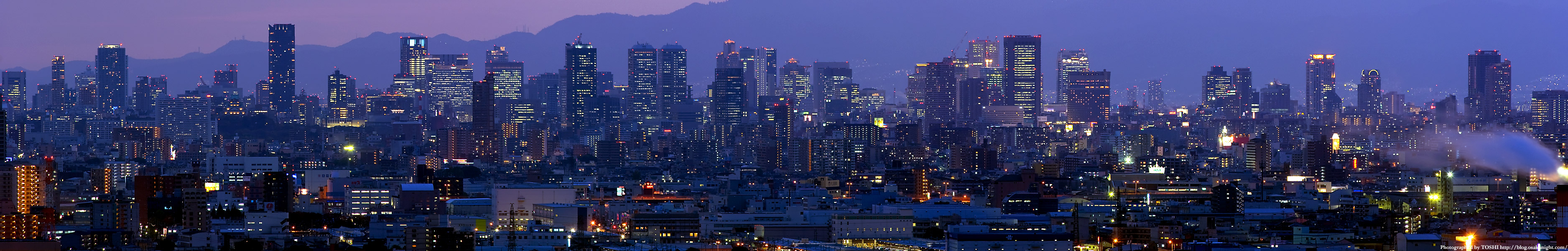 Osaka night panorama