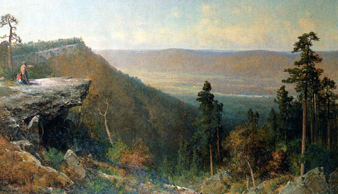 Hudson river valley from the catskill mountain house 1872
