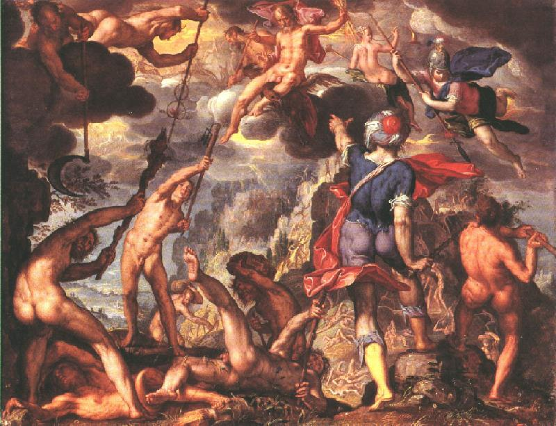 Joachim wtewael   the battle between the gods and the titans   wga25902