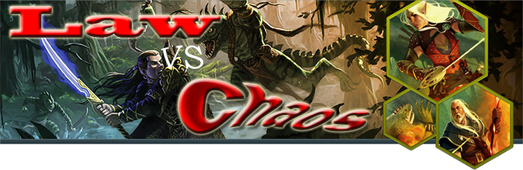 Law vs chaos banner