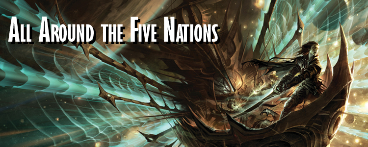 All around the five nations banner