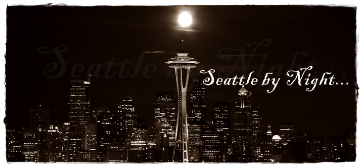 Seattle skyline night