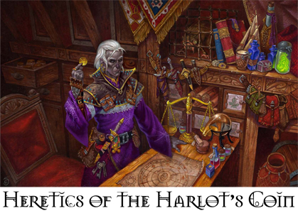 Heretics of the harlot s coin banner 2
