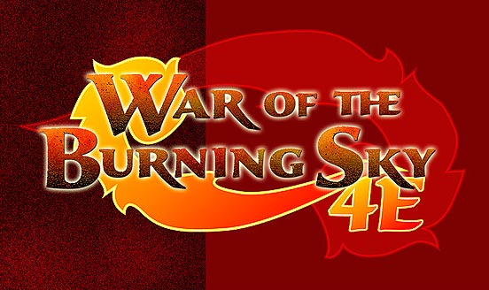 War of the burning sky logo