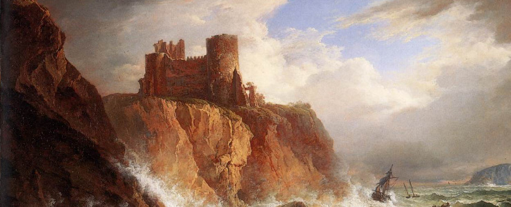 Tantallon castle painting banner cut