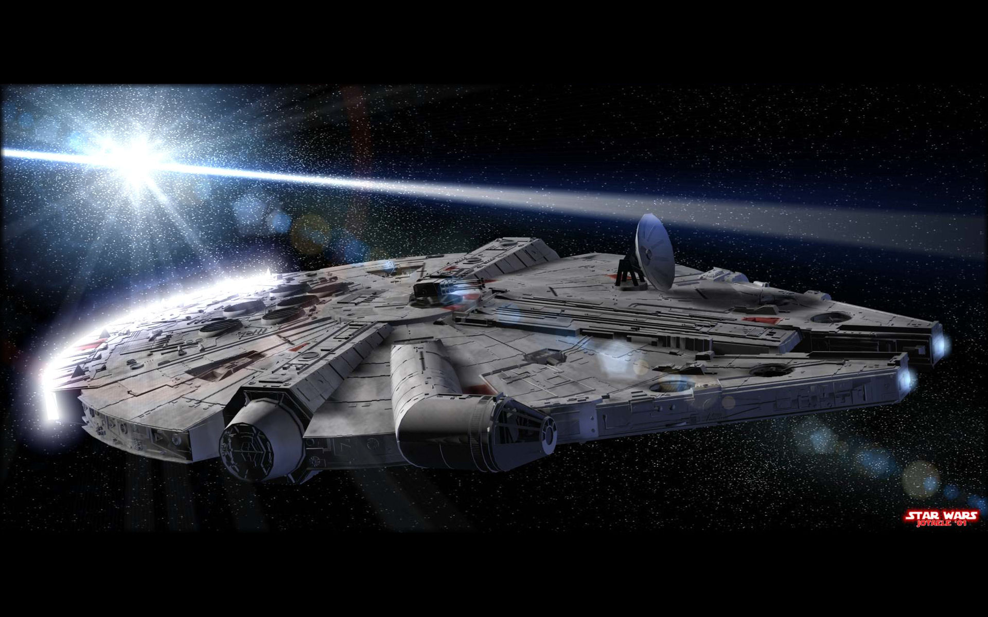 Millenium falcon desktop wallpaper wide