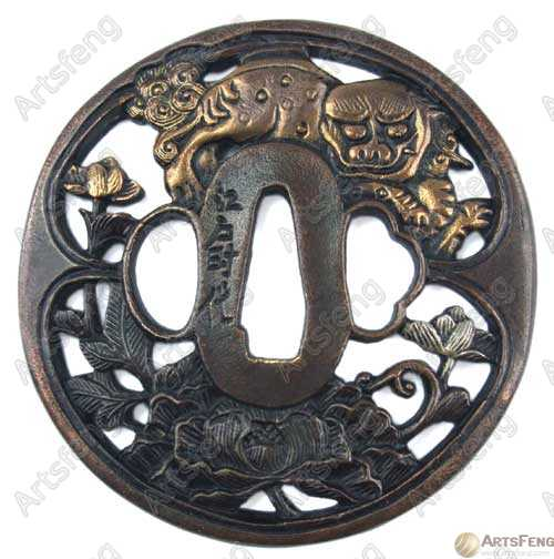 Tsuba_-_Black_Lion__Military_Decoration_.jpg
