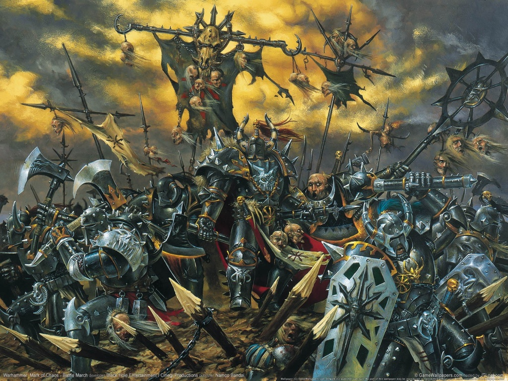 Warhammer mark of chaos battle wallpaper 1024x768
