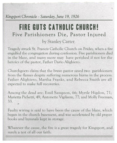 Fire Guts Catholic Church