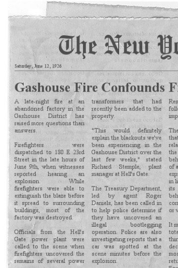 Gashouse Fire Confounds Firefighters