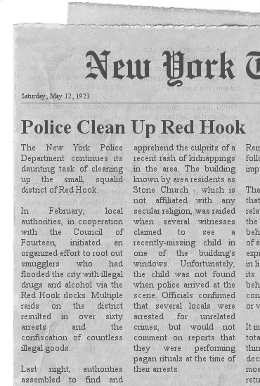 Police Clean Up Red Hook