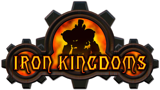 Iron kingdoms logo white