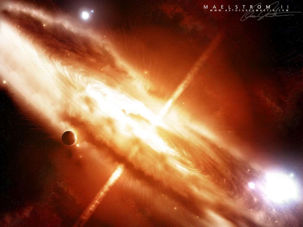 Explosion in space wallpaper
