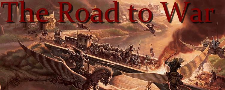 Road to war banner
