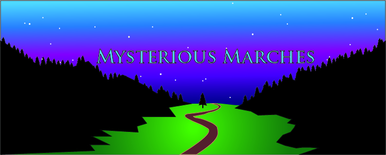 Banner mysterious marches