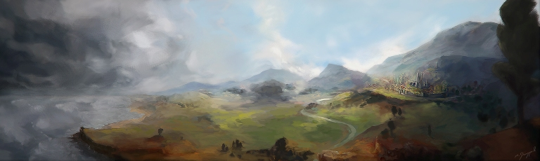 Another epic fantasy landscape by twizzt d3i0ehx