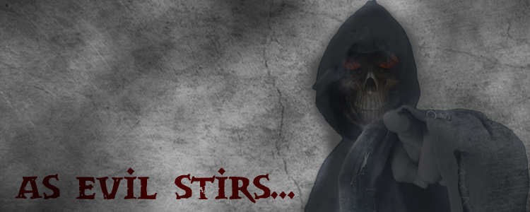 As evil stirs logo