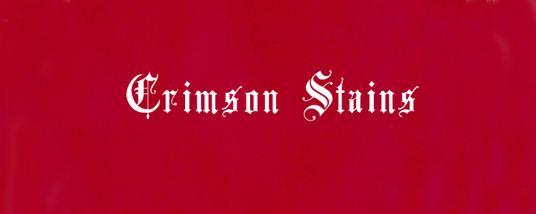 Crimson stains banner