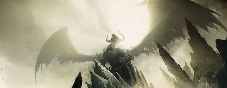 Fantasy dragon banner