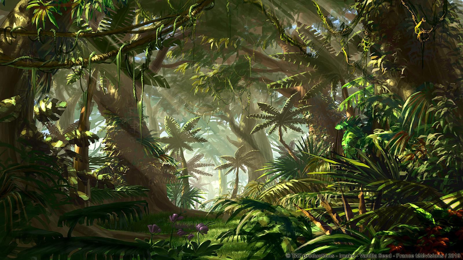 Прекрасна, джунгли картинка анимация