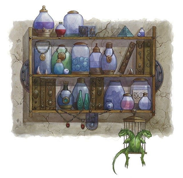 An alchemist lab may be filled with many strange curiosities.