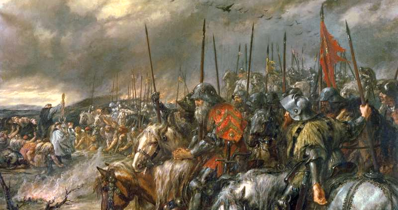 Morning of the battle of agincourt  25th october 1415