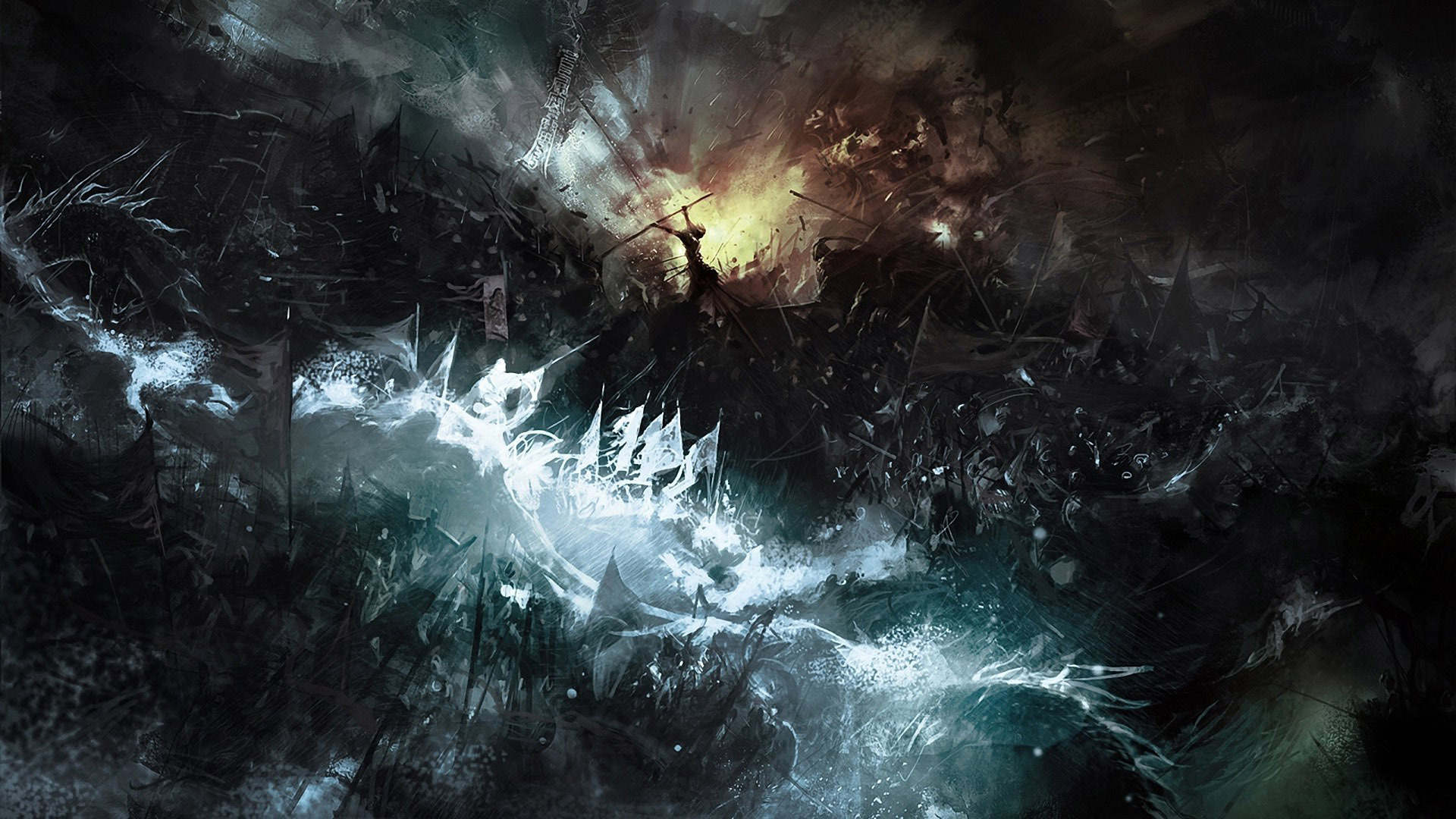 Fantasy disaster hd background