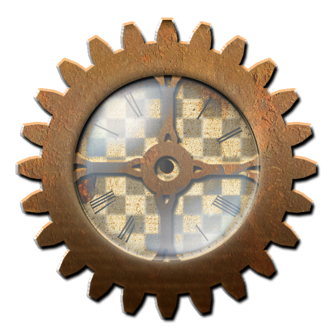 Steampunk gear with clock stock by valerianastock d4iw8zc